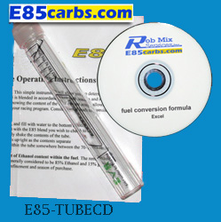 Test tube with Excel CD file