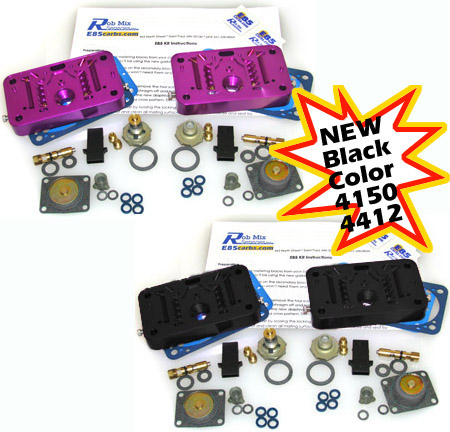 purple and black e85 carburetor kits